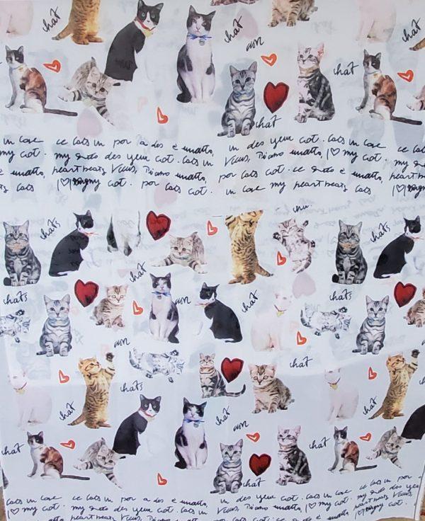 20191025 014522 Gorgeous Couture Italian Chiffon from Fashion Show/ Digital Print Cats Pattern Fabric/Milan Fashion Week Chiffon/Catwalk Cat Print Fabric 5