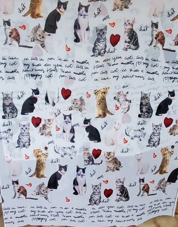 20191025 014539 Gorgeous Couture Italian Chiffon from Fashion Show/ Digital Print Cats Pattern Fabric/Milan Fashion Week Chiffon/Catwalk Cat Print Fabric 4