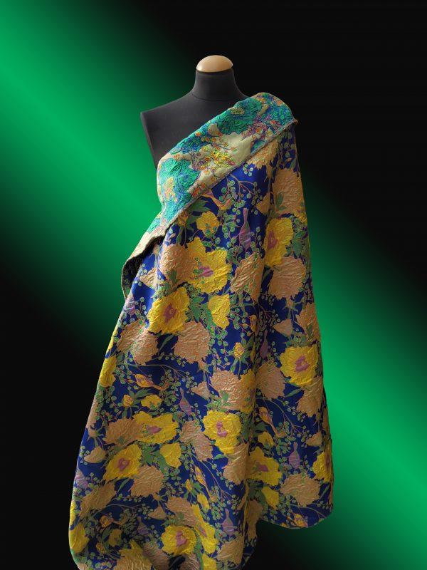 Gucci Fabric Jacquard Brocade Blue