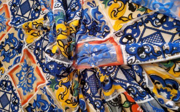 Dolce Gabbana Fabric Mesh Lace WHITE