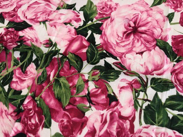 DG Pure Cotton Roses Print Fabric