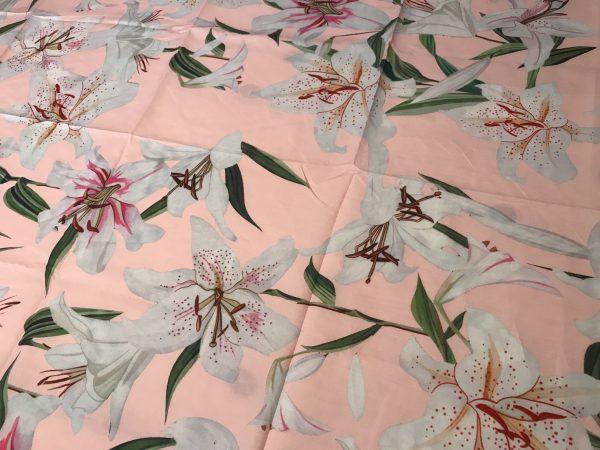 Italian Designer 100%Cotton Lily Print