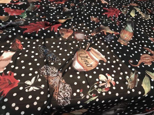 IMG 5736 scaled Exclusive Italian Soft  Chiffon Fabric Digital Print/Fish Garlic Pepper Print Polka dot Chiffon/Dress Chiffon Fabric/Haute couture chiffon 14