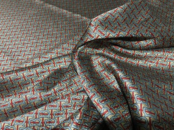 Haute Couture Jacquard Italian Designer Brocade B print Fabric
