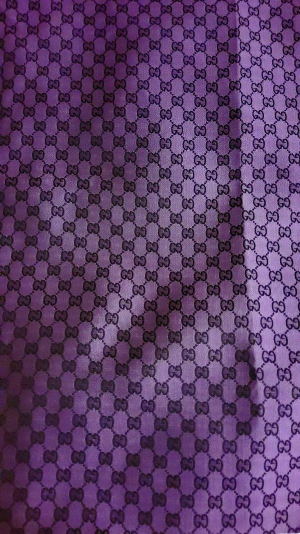 Gucci Jacquard Monogram Print in Purple and Black/ Designer Gucci Fabric/Jacket Jacquard Fabric/Jacquard Couture Fabric Colours Available 4 ⋆ Rozitta Rapetti
