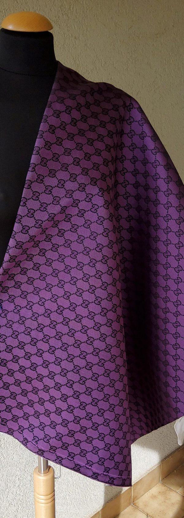 Gucci Jacquard Monogram Print in Purple and Black/ Designer Gucci Fabric/Jacket Jacquard Fabric/Jacquard Couture Fabric Colours Available 2 ⋆ Rozitta Rapetti