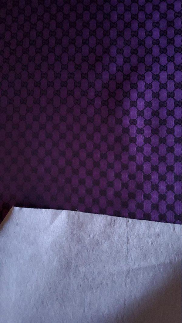 Gucci Jacquard Monogram Print in Purple and Black/ Designer Gucci Fabric/Jacket Jacquard Fabric/Jacquard Couture Fabric Colours Available 6 ⋆ Rozitta Rapetti