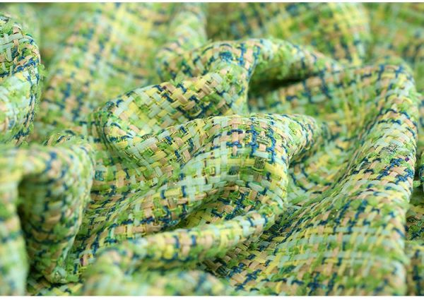 Haute Couture Fabric green Tweed Wool Fabric/Tweed Cotton Polyester Alta Moda/Fashion week fabric/Various Colours Available Check Our Shop 7