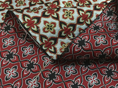 Italian Couture Jacquard Brocade Fabric in RED /Designer Brocade Fabric/Tapestry Couture Jacquard Fabric/Rare fashion week Jacquard fabric 11
