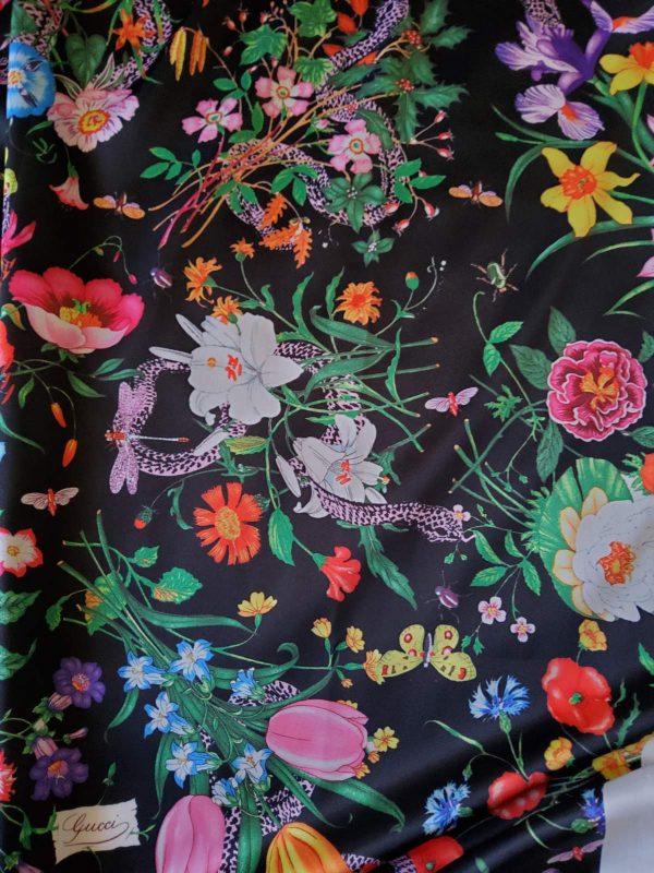 Gucci Silk Satin Stretch Fabric