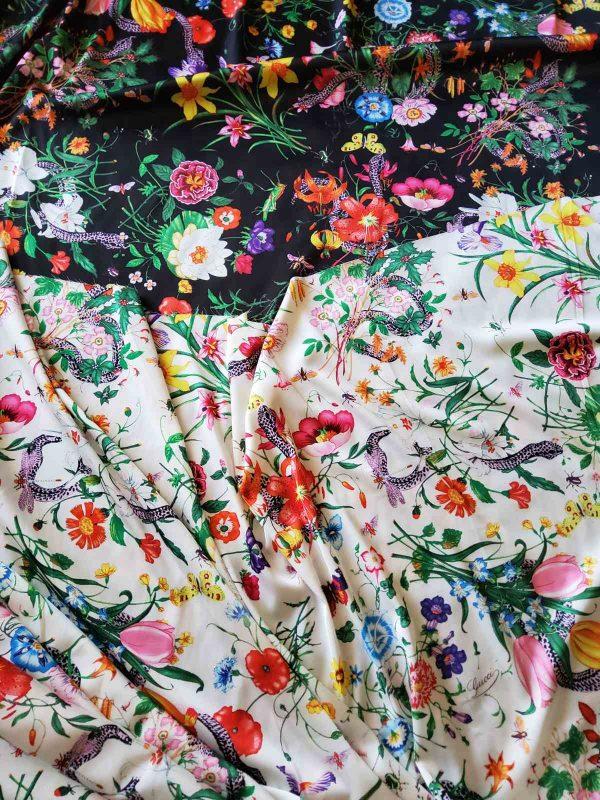 Gucci Silk Satin Stretch Fabric #2
