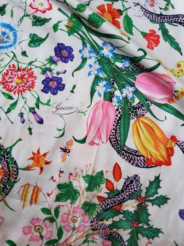 Gucci Silk Satin Stretch Fabric #2 Dragonfly and lizard Digital Painted Fabric/Haute Couture Silk Satin Polyester Rural Flowers Print Silk 10 ⋆ Rozitta Rapetti