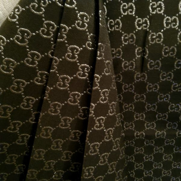 20200112 203035 Gucci Jacquard Monogram BLACK Silver Logo/ Exclusive Fabric/Jacket Jacquard Gold Yarn /Gucci Couture Dress Fabric Various Colours Available 14