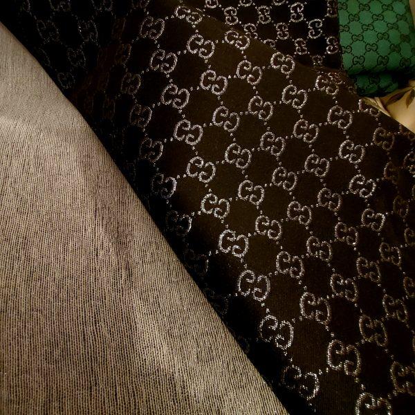 Gucci Jacquard Monogram BLACK Silver Logo/ Exclusive Fabric/Jacket Jacquard Gold Yarn /Gucci Couture Dress Fabric Various Colours Available 15 ⋆ Rozitta Rapetti
