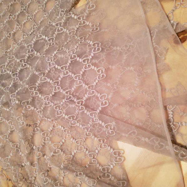 Gucci Lace on cotton Fabric Powder Posh
