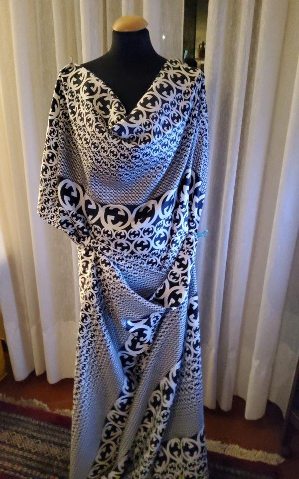 20200311 194240 e1583968665848 Gucci Fabric 100%Mulberry Silk Italian Fabric GG logo/Limited Quantity/Haute Couture Fabric/Fashion Week fabric/Haute Couture Gucci Fabric 14