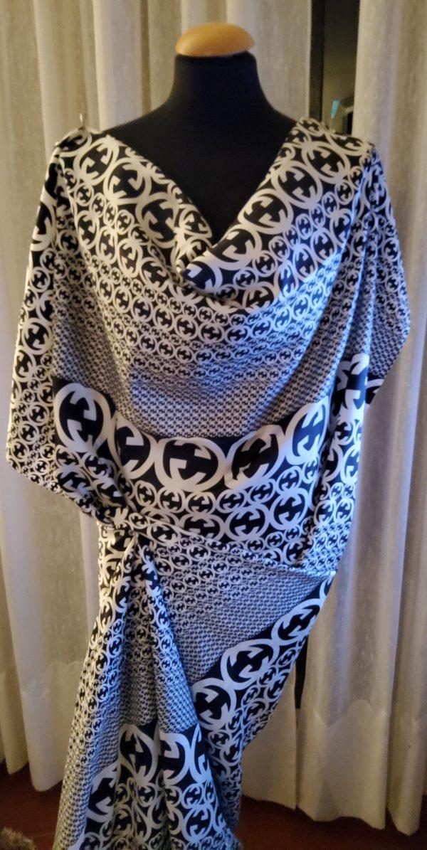 20200311 194505 Gucci Fabric 100%Mulberry Silk Italian Fabric GG logo/Limited Quantity/Haute Couture Fabric/Fashion Week fabric/Haute Couture Gucci Fabric 17