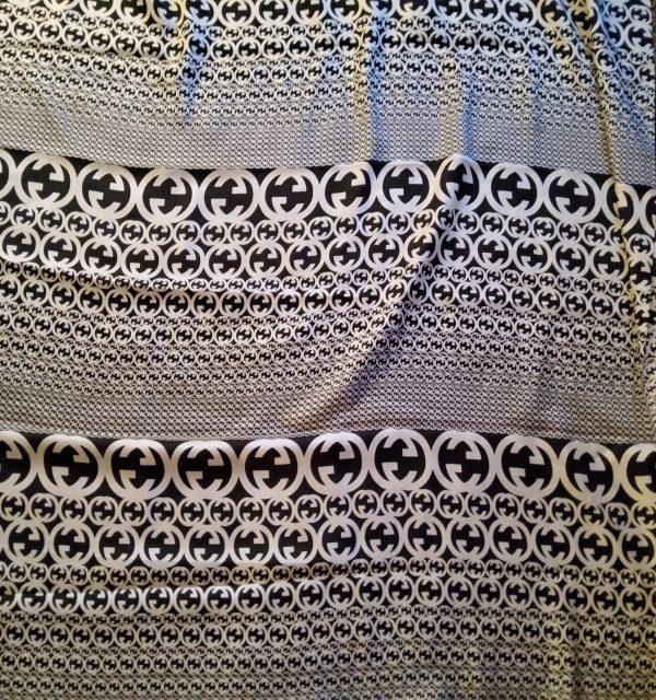 20200311 194953 Gucci Fabric 100%Mulberry Silk Italian Fabric GG logo/Limited Quantity/Haute Couture Fabric/Fashion Week fabric/Haute Couture Gucci Fabric 18