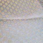 RARE Gucci Jacquard Monogram Print LIGHT Khaki Designer Fabric/Jacket Jacquard Fabric/Jacquard Couture Fabric Various Colours Available