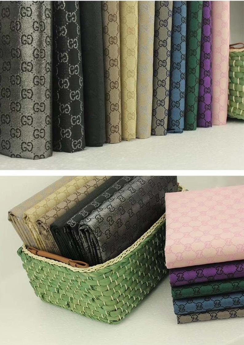 gucci jacquard monogram in black designer gucci fabric