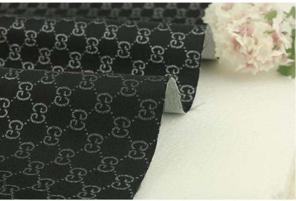 Gucci Jacquard Monogram BLACK Silver Logo/ Exclusive Fabric/Jacket Jacquard Gold Yarn /Gucci Couture Dress Fabric Various Colours Available 2 ⋆ Rozitta Rapetti