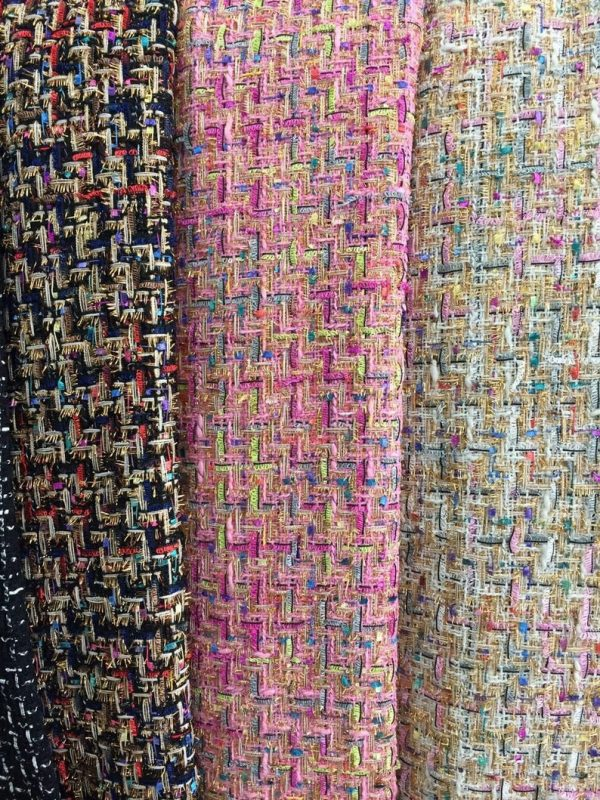 Haute Couture Fabric Tweed Wool Fabric/Designer Tweed Fabric Alta Moda/Fashion week fabric/Various Colours Available Check Listing please 7