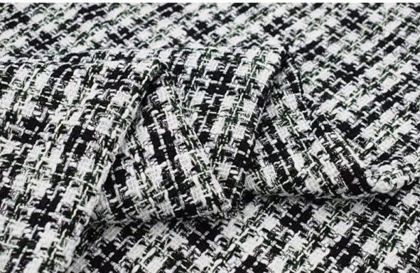 Italian Couture Tweed Fabric Polyester/Designer Tweed Fabric Alta Moda/Fashion week fabric 6