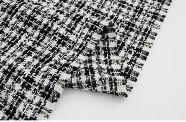 Italian Couture Tweed Fabric Polyester/Designer Tweed Fabric Alta Moda/Fashion week fabric 8