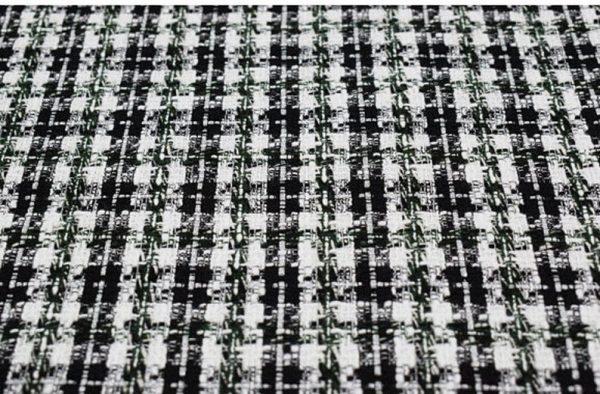 Italian Couture Tweed Fabric Polyester/Designer Tweed Fabric Alta Moda/Fashion week fabric 3
