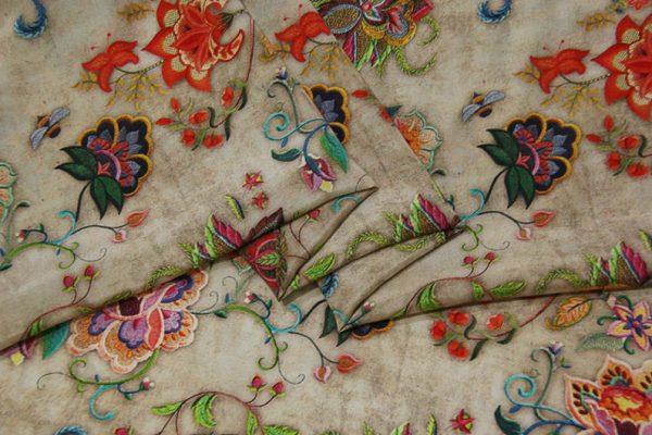 Exclusive New Collection Oscar De La Renta #2 Mulberry Silk Crepe De Chine Italian Fabric/Haute Couture Fabric 100% Silk Digital Inkjet /NEW Collection Fashion Fabric 4