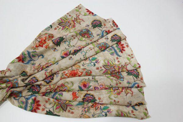 Exclusive New Collection Oscar De La Renta #2 Mulberry Silk Crepe De Chine Italian Fabric/Haute Couture Fabric 100% Silk Digital Inkjet /NEW Collection Fashion Fabric 11