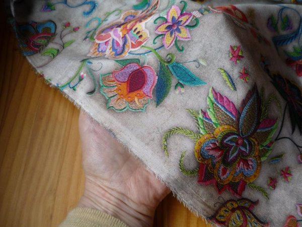 Exclusive New Collection Oscar De La Renta #2 Mulberry Silk Crepe De Chine Italian Fabric/Haute Couture Fabric 100% Silk Digital Inkjet /NEW Collection Fashion Fabric 12