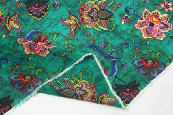 Exclusive New Collection Oscar De La Renta #1 Mulberry Silk Crepe De Chine Italian GREEN Fabric/Haute Couture Fabric 100% Silk Digital Inkjet /Fashion Fabric 7