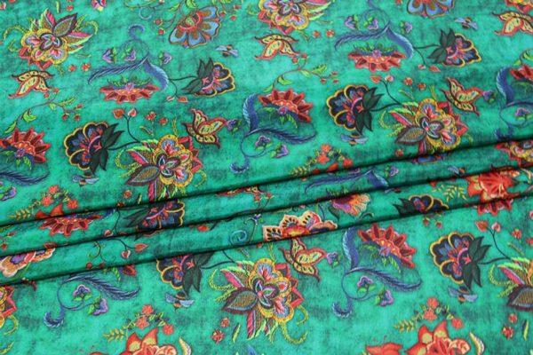 Exclusive New Collection Oscar De La Renta #1 Mulberry Silk Crepe De Chine Italian GREEN Fabric/Haute Couture Fabric 100% Silk Digital Inkjet /Fashion Fabric 3