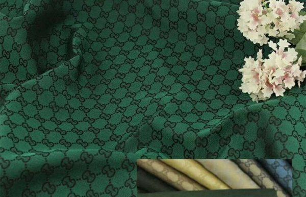 RARE Gucci Jacquard Monogram Print in GREEN Designer Gucci Fabric/Jacket Jacquard Fabric/Jacquard Couture Fabric Various Colours Available 1 ⋆ Rozitta Rapetti