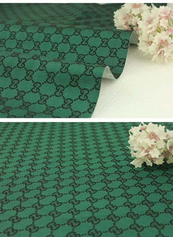 RARE Gucci Jacquard Monogram Print in GREEN Designer Gucci Fabric/Jacket Jacquard Fabric/Jacquard Couture Fabric Various Colours Available 2 ⋆ Rozitta Rapetti