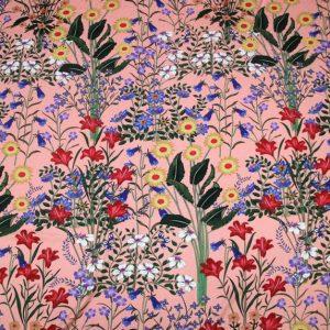 New Collection GG Designer Fabric #2Pink Silk Stretch Satin Italian Fabric/Haute Couture Fabric 100% Silk Digital Inkjet /Fashion Fabric