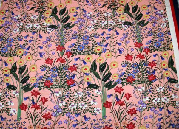 New Collection GG Designer Fabric #2Pink Silk Stretch Satin Italian Fabric/Haute Couture Fabric 100% Silk Digital Inkjet /Fashion Fabric 3