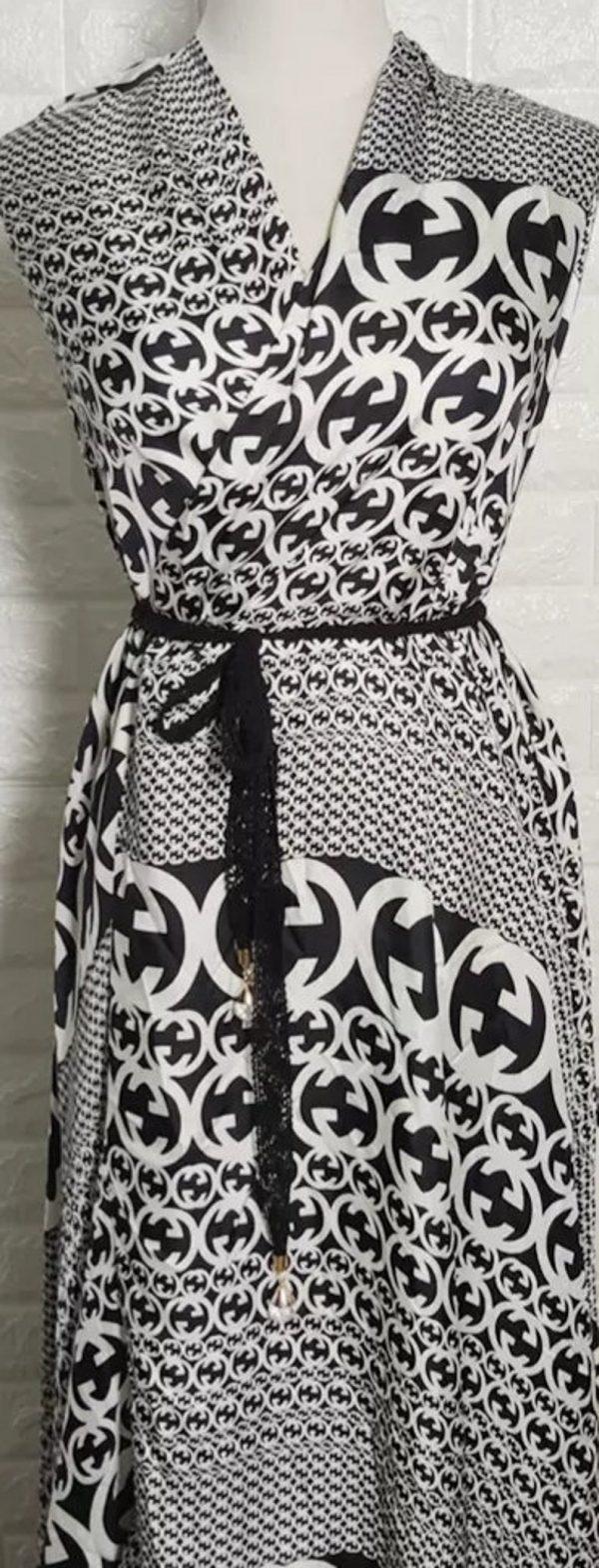 Gucci Fabric 100%Mulberry Silk Italian Fabric GG logo/Limited Quantity/Haute Couture Fabric/Fashion Week fabric/Haute Couture Gucci Fabric 12