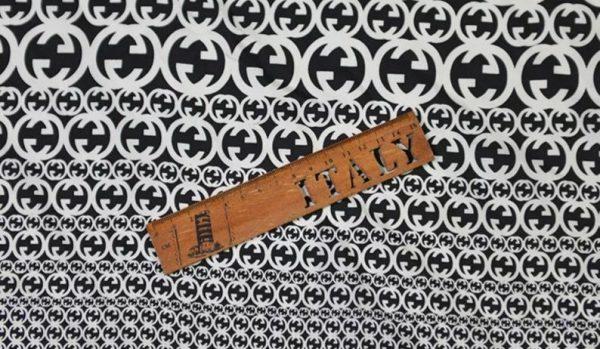 Gucci Fabric 100%Mulberry Silk Italian Fabric GG logo/Limited Quantity/Haute Couture Fabric/Fashion Week fabric/Haute Couture Gucci Fabric 6