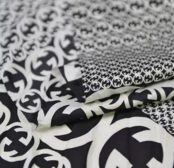 Gucci Fabric 100%Mulberry Silk Italian Fabric GG logo/Limited Quantity/Haute Couture Fabric/Fashion Week fabric/Haute Couture Gucci Fabric 5