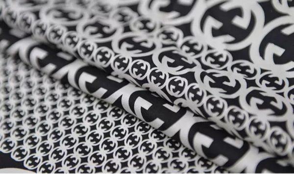 Gucci Fabric 100%Mulberry Silk Italian Fabric GG logo/Limited Quantity/Haute Couture Fabric/Fashion Week fabric/Haute Couture Gucci Fabric 4