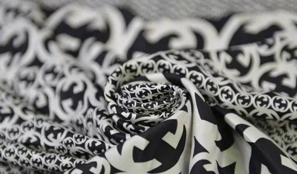 Gucci Fabric 100%Mulberry Silk Italian Fabric GG logo/Limited Quantity/Haute Couture Fabric/Fashion Week fabric/Haute Couture Gucci Fabric 7