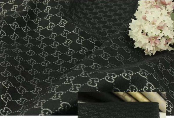 Gucci Jacquard Monogram BLACK Silver Logo/ Exclusive Fabric/Jacket Jacquard Gold Yarn /Gucci Couture Dress Fabric Various Colours Available 1 ⋆ Rozitta Rapetti