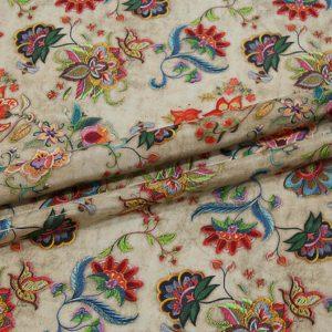 Exclusive New Collection Oscar De La Renta #2 Mulberry Silk Crepe De Chine Italian Fabric/Haute Couture Fabric 100% Silk Digital Inkjet /NEW Collection Fashion Fabric