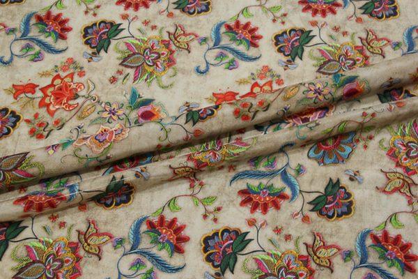 Exclusive New Collection Oscar De La Renta #2 Mulberry Silk Crepe De Chine Italian Fabric/Haute Couture Fabric 100% Silk Digital Inkjet /NEW Collection Fashion Fabric 3