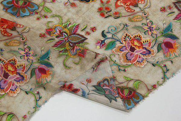 Exclusive New Collection Oscar De La Renta #2 Mulberry Silk Crepe De Chine Italian Fabric/Haute Couture Fabric 100% Silk Digital Inkjet /NEW Collection Fashion Fabric 7