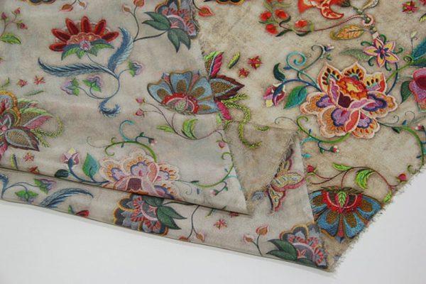 Exclusive New Collection Oscar De La Renta #2 Mulberry Silk Crepe De Chine Italian Fabric/Haute Couture Fabric 100% Silk Digital Inkjet /NEW Collection Fashion Fabric 8