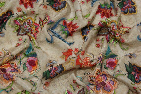 Exclusive New Collection Oscar De La Renta #2 Mulberry Silk Crepe De Chine Italian Fabric/Haute Couture Fabric 100% Silk Digital Inkjet /NEW Collection Fashion Fabric 9