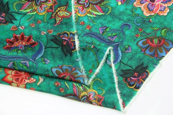 Exclusive New Collection Oscar De La Renta #1 Mulberry Silk Crepe De Chine Italian GREEN Fabric/Haute Couture Fabric 100% Silk Digital Inkjet /Fashion Fabric 10
